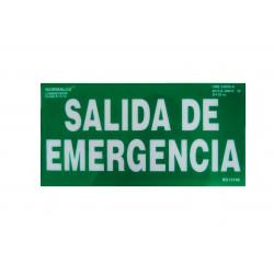 Señalización - Placa Salida de Emergencia
